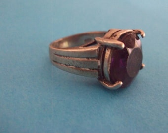 Ametyst vintage silver ring