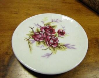 Miniature Plate - Purple Roses