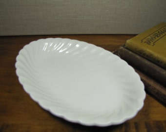 Vintage Johnson Bros. Snowhite Regency Ironstone Small Servining Dish