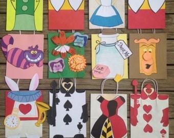 Alice in Wonderland treat bags
