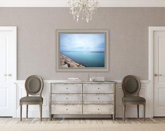 Vineyard Calm ~ Martha's Vineyard, Beach, Photography, State Beach, Artwork, Long Exposure, Blue, Turquoise, Serene, Home Decor, Beach House