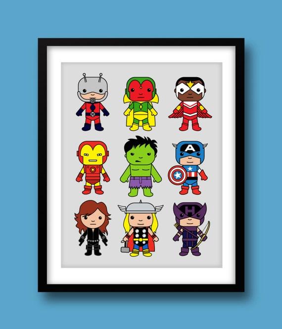 Avengers Inspired Wall Art Marvel Nursery Avengers Captain
