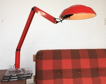 Rare XL danish desk lamp from Nordisk Solar designed by Jorgen Gammelgaard