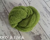 Forest Green Newborn Knit Stretch Textured Nubble Rayon Wrap  Baby Photo Photography Prop - UK SELLER