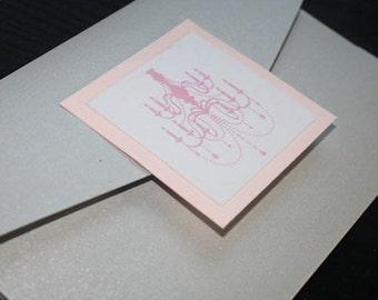 Chandelier Silver & Pink Pocketfold