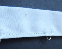 "Silver loop eye only trim by the yard -White Cotton Tape ribbon - 12""."
