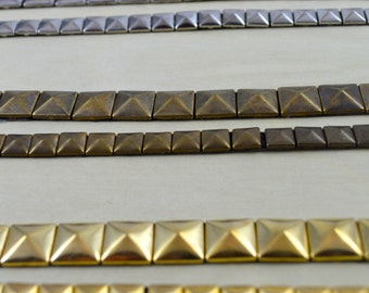 Edgy and Versatile Iron on Stud Tape: Gold, Silver, Gunmetal and Antique Brass