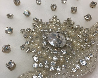 Rhinestone Bridal Veil Cap