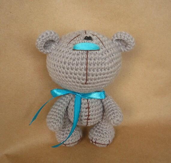 Grey Bear Amigurumi Crochet Pattern : Gray Bear. Amigurumi. Crochet Toy. Free shipping