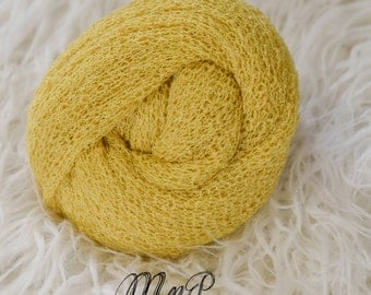 Yellow Newborn Stretch Wrap, Newborn Stretch Knit wrap, Newborn Wrap, Newborn Photography Prop