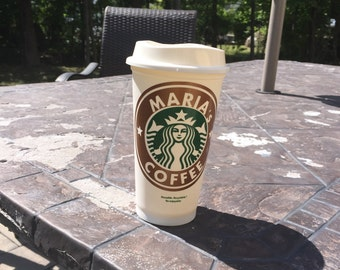 Personalized Starbucks Cup, 16 oz Starbucks cup, Reusable Coffee Cup, Coffee Lovers, gift, personalized coffee cup, starbucks, coffee cup
