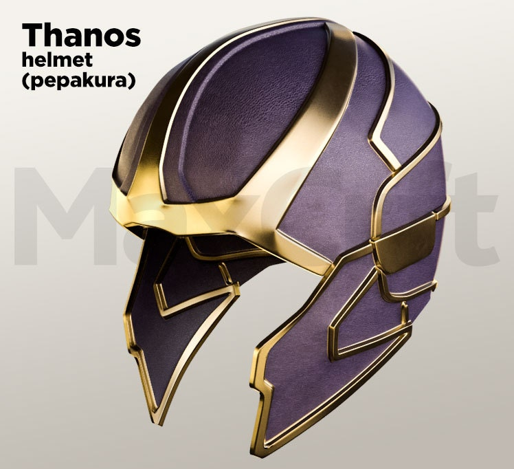 Thanos Helmet Pepakura Foam And Paper Unfold