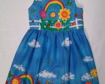 Rainbow dress in three sizes