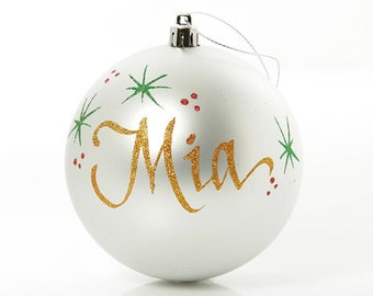 Personalised Silver Shatterproof Bauble - Medium