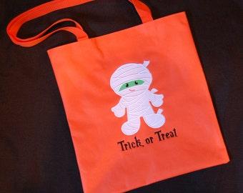 Personalized Halloween Bag - Mummy Treat Bag