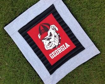University of Georgia spirit rag or mimi baby blanket!  The perfect gift for your littlest bulldog or spirit rally rag for your older fan