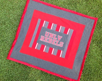 UNLV game day throw blanket or baby blanket for all you Rebel fans!