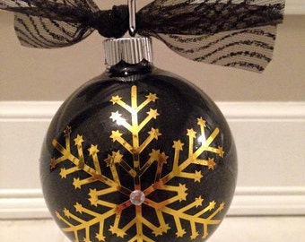 Gold Foil Snowflake Christmas Ornament