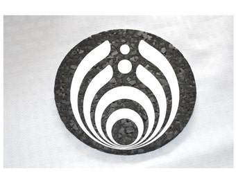 Recycled Rubber Bassnectar Coasters