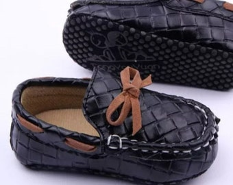 SALE...Black loafers 6-12 months