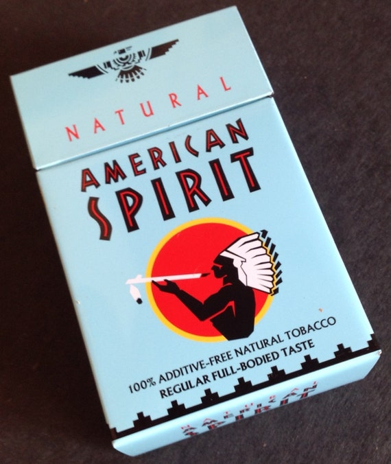 american spirit cigarette tin box holder by azdiggs on etsy