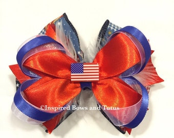 4th of July Inspired Hair Bow