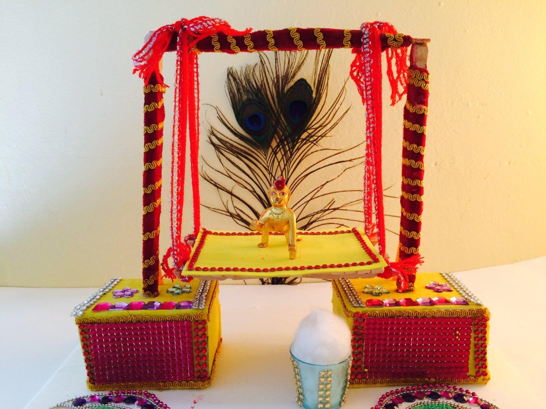 Janmashtami Decorations Krishna Swing Bal Gopal Jhula