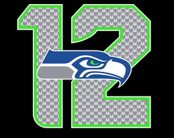 Full Color Seattle Seahawks - 12th Man Die Cut Decal