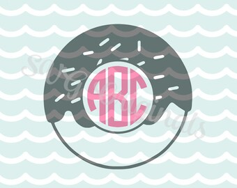 SVG Donut Doughnut Monogram Base {no fonts included}