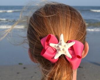 A Piece of the Beach. . .for your hair.  Starfish Hair bow