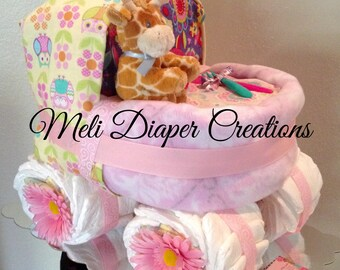 Baby Carriage Diaper Cake, Stroller diaper cake, Bassinet Diaper Cake.