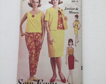 1960's Vintage Sew-Easy By Advance Sewing Pattern 3200 Weekender Separates
