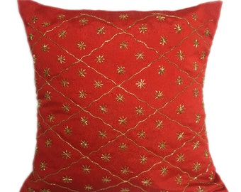Red Lattice Pillow  Lattice Decorative pillow 20x20 Lattice Accent Pillows Lattice Throw Pillows Lattice Décor