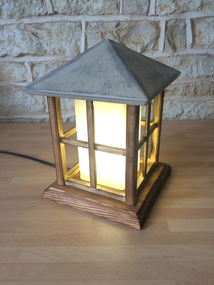 Handmade wooden lantern table lamp decorative light handmade Home decor lanterns