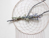 Delilah Dreamcatcher/Wall Hanging/Home Decor/Design/Natural Dried Wildflowers/Pine Branch/Boho/Goddess/Hippie/Gift/Yoga/Neutral/Dream/Native