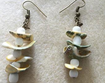Shell and Bone Earrings