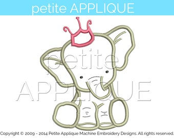 cute baby elephant Applique Design for Embroidery Machines Instant Download - 1 size
