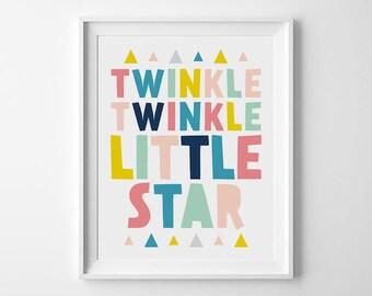 Nursery Wall Art, Twinkle Twinkle Little Star, Kids Room Decor, Nursery Quotes, Baby Decor, Nursery Prints, Art For Nursery, Baby Nursery