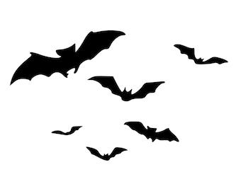 Bats Flying Die-Cut Decal Car Window Wall Bumper Phone Laptop