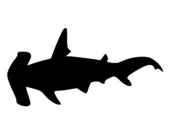 hammerhead shark die cut decal car window wall bumper phone laptop