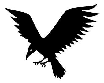 Flying Crow Die-Cut Decal Car Window Wall Bumper Phone Laptop
