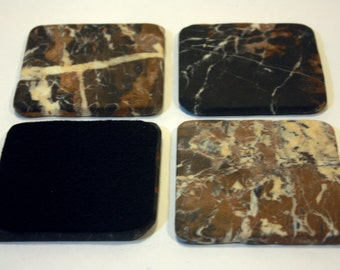 4 inch Michelangelo Marble Drink Coasters,1 set of four