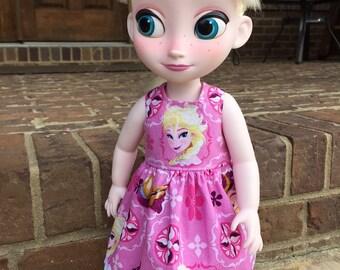 Disney Animator Doll Clothes Pink Sparkle Elsa Dress