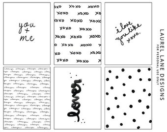 Digital I Love You Like XOXO Edition Project Life Journaling Cards