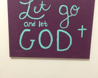 Let Go & Let God Canvas