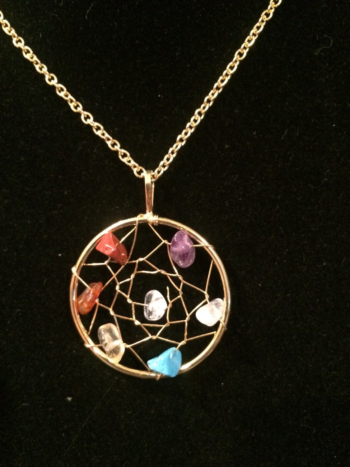 Chakra Necklace Healing Crystal Necklace Protection