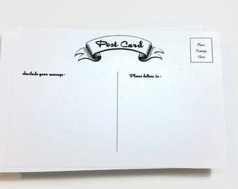 Blank Postcards, (25) Post Cards, Note Cards - Set of 25