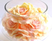 Decorative Soap, Apothecary Jar, Filled With Soap Flowers, Soap Roses, Gift For Her, Cottage Chic, Gift Soap Set
