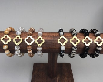 Gold Quatrefoil Clover Bracelet