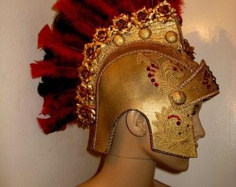 Headdress,Roman Helmet, Miami Costume Shop, Kentucky Derby, Helmet, Halloween Costume, Burning man, Rave Festival, Any Event, Foam Helmet,